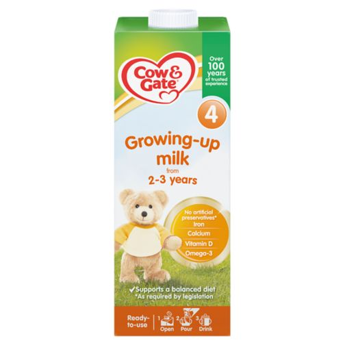 Cow & Gate 4 Growing Up Milk from 2-3 Years 1L