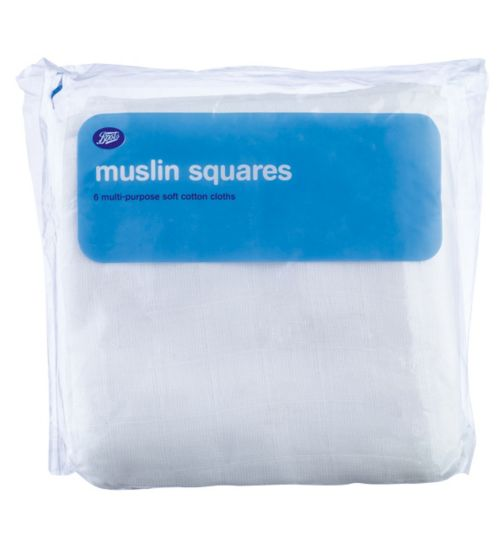 Boots Muslin Squares - 6 Pack