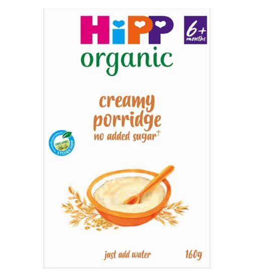 Boots Baby Organic Creamy Porridge Stage 1 4-6months+ 160g