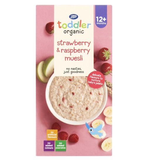 Boots Baby Organic Strawberry & Raspberry Muesli Stage 3 12months+ 350g