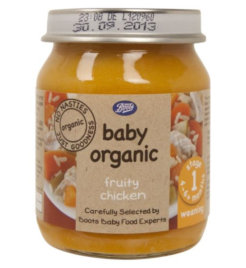 Boots Baby Organic Fruity Chicken Stage 1 4-6months+ 125g