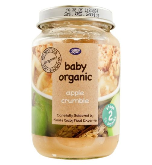Boots Baby Organic Apple Crumble Stage 2 7months+ 190g