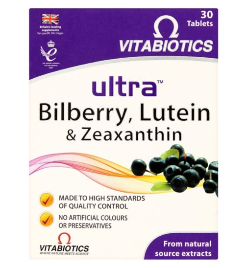 Vitabiotics Ultra Bilberry, Lutein & Zeaxanthin - 30 Tablets