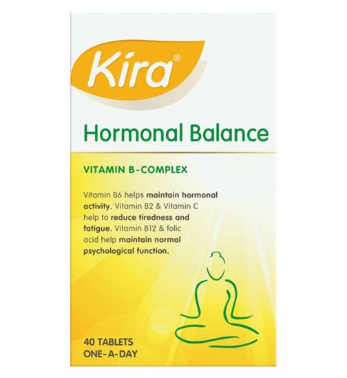 Kira Hormonal Balance Vitamin B Complex One-A-Day 40 Film-Coated Tablets