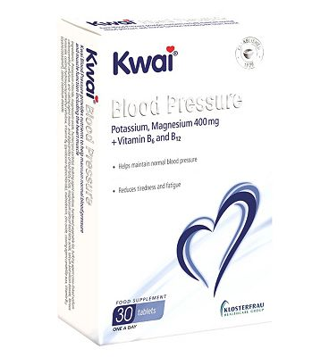 Kwai Blood Pressure Potassium, Magnesium 400mg + Vitamin B6 and B12 30 Tablets
