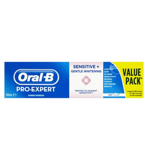 Oral-B Pro-Expert Sensitive and Gentle Whitening Fluoride Toothpaste Mint 100ml