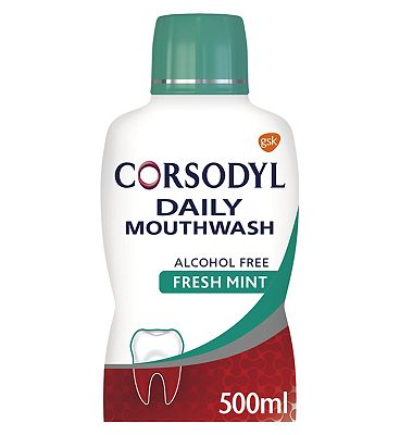 Corsodyl Daily Fresh Mint Alcohol Free Mouthwash 500ml