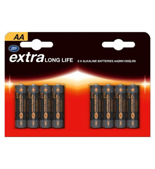 Boots Extra Long Life AA Batteries x 8