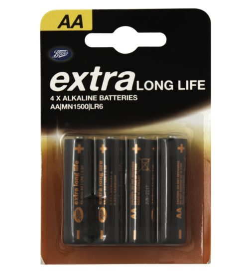 Boots Extra Long Life AA Battery - 4 Batteries