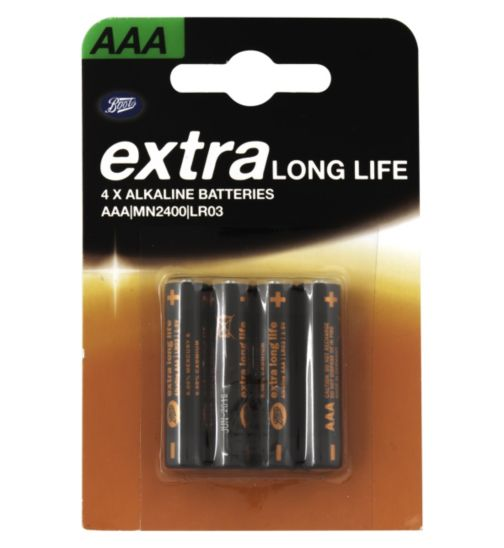 Boots Extra Long Life AAA Batteries x4