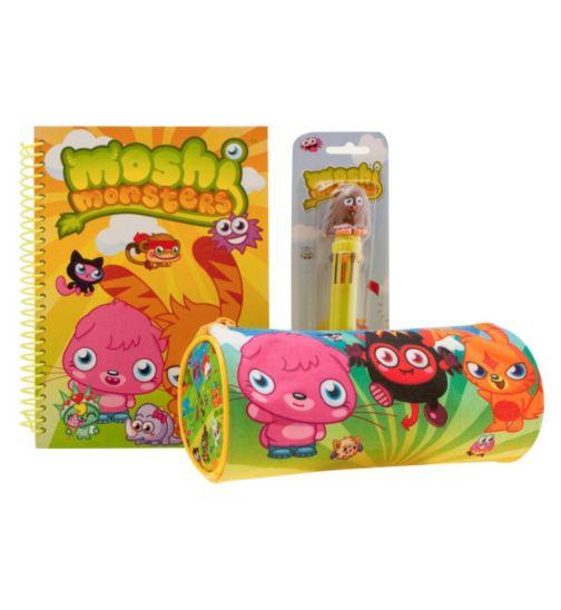 Moshi Monster Notebook, Pencil Case and 10 Colour Pen