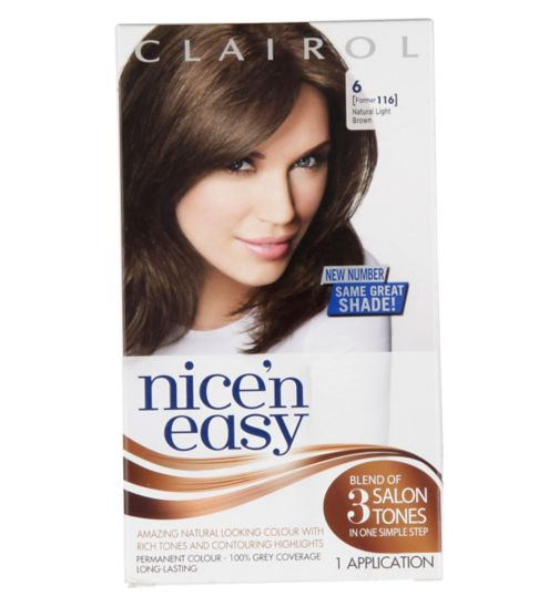 Nice'n Easy Permanent Hair Colour #6 Natural Light Brown (Former #116)