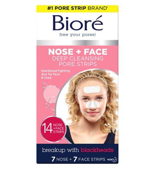 Bioré® Deep Cleansing Pore Strips Combo 7 Nose Strips & 7 Face Strips