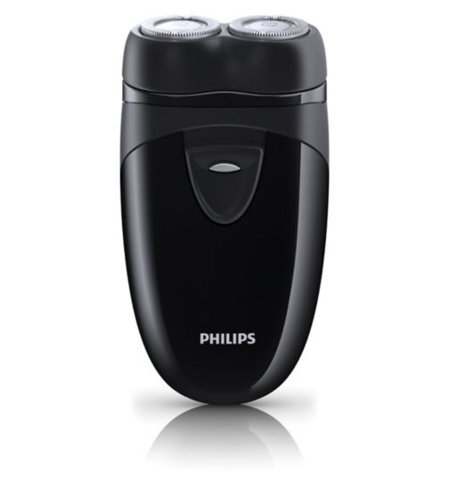 Philips Men's Electric Cordless Travel Shaver PQ203/17 with Travel Pouch