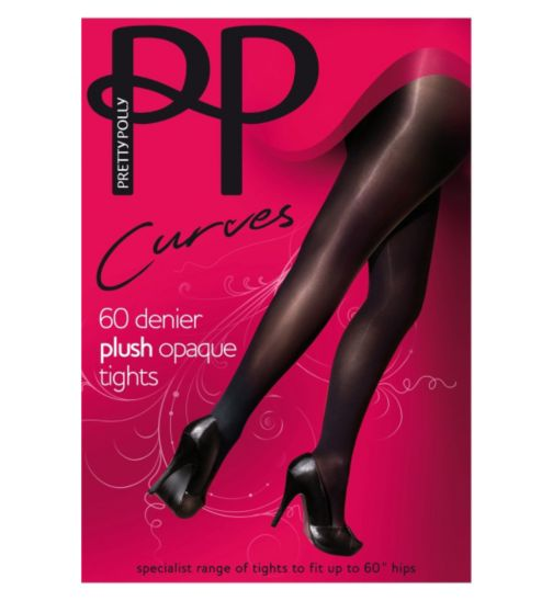 Pretty Polly 60 Denier Curves Black Tights 1 Pair Pack