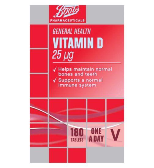 Boots Vitamin D 25 ug tablets - 180 tablets