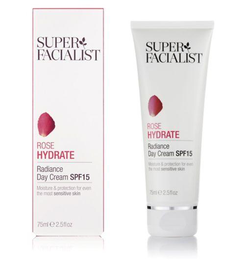 Superfacialist Rose Hydrate Radiance Day Cream SPF15 75ml