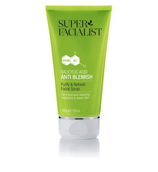 Super Facialist Salicylic Acid Anti Blemish Purify & Refresh Facial Scrub 150ml