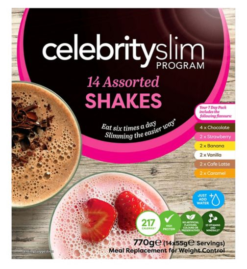 Celebrity Slim 7 day Assorted Shake Pack