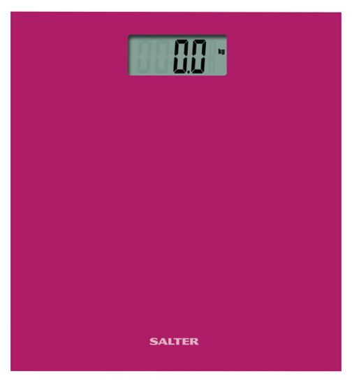 Salter Pink Coloured Glass Electronic Scale 9069 PK3R