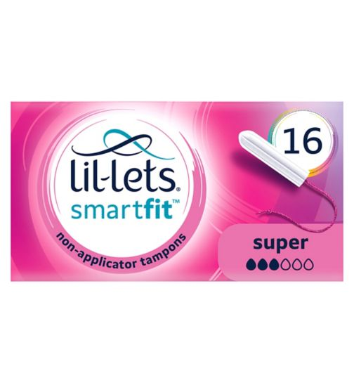 Lil-Lets Non-Applicator Tampons Super 16 Pack