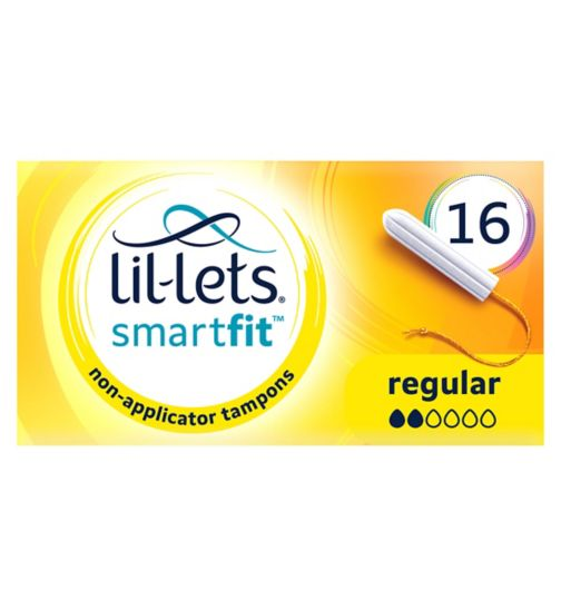 Lil-Lets Non-Applicator Tampons Regular 16 Pack
