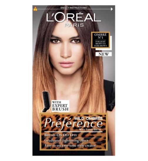 Preference Ombré 01 Light to Dark Brown Permanent Hair Dye