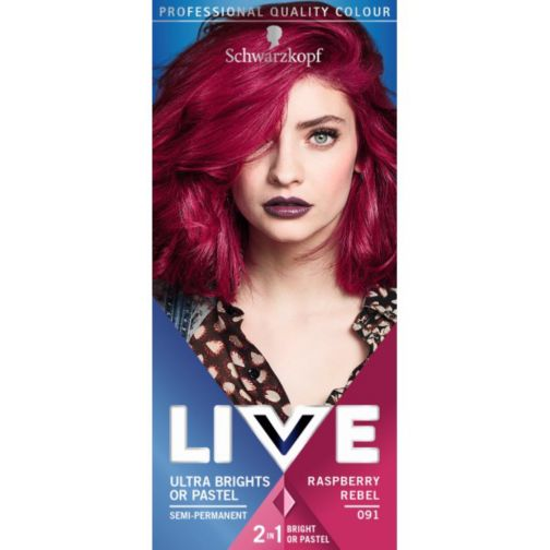 Schwarzkopf LIVE Color XXL Ultra Brights 91 Raspberry Rebel Semi-Permanent Red Hair Dye