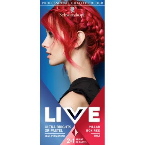 Schwarzkopf LIVE Ultra Brights 092 Pillar Box Red Hair Dye