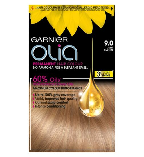 Garnier Olia 9.0 Light Blonde Permanent Hair Dye