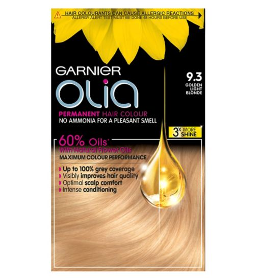 Garnier Olia 9.3 Golden Light Blonde Permanent Hair Dye