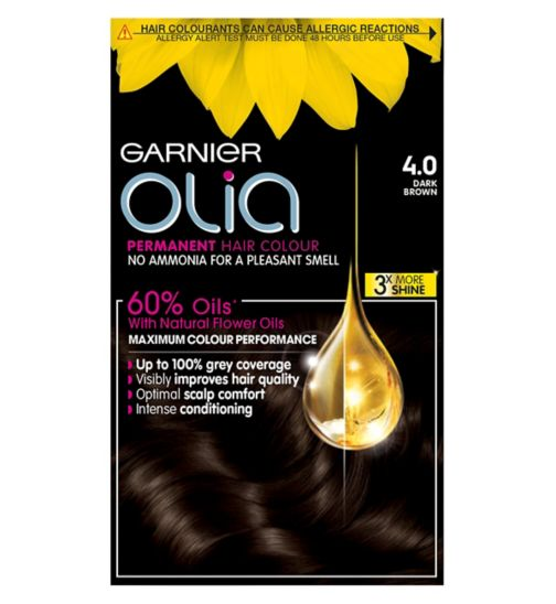 Garnier Olia 4.0 Dark Brown Permanent Hair Dye