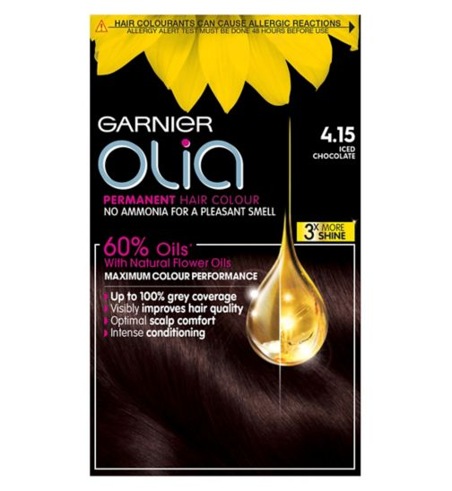 Garnier Olia 4.15 Iced Chocolate Brown Permanent Hair Dye