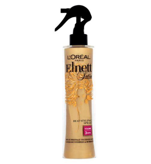 L'Oreal Elnett Heat Protect Spray Straight Hairspray 170ml