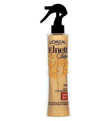 L'Oral Paris Elnett Satin Heat Protect Styling Spray Volume 170ml