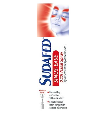 Sudafed Mucus Relief 0.1% Nasal Spray 15ml
