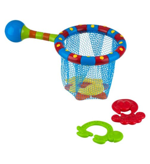 Nuby Splash n' Catch Net Bathtime Fishing Set - 1 x Set