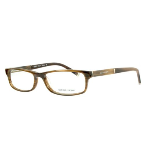Nicole Farhi Women's Brown Glasses - NF0017