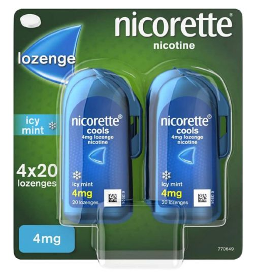 Nicorette Cools 4mg - 4 x 20 lozenges