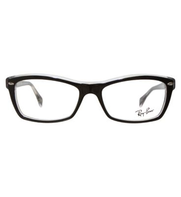 ray ban eyeglass frames uk  ray ban women's black glasses rb5255