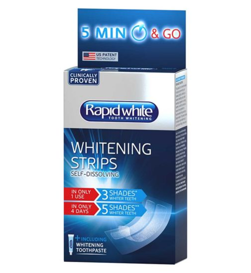 Rapid White Express Max Effect 5 minute dissolving tooth whitening strips