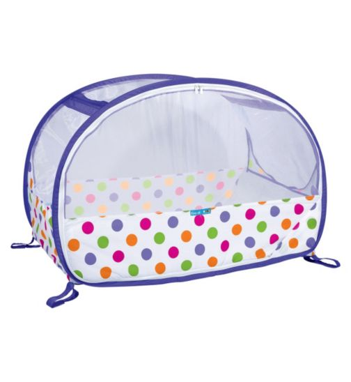 Koo-di Pop Up Bubble Cot - Polka