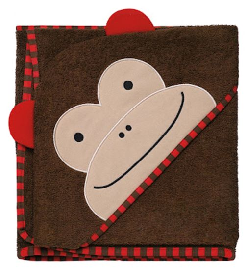 Skip Hop Zoo Hooded Towel Monkey - Brown