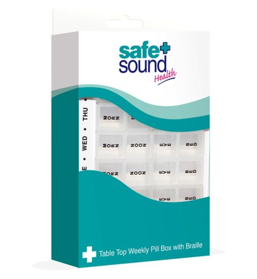 Safe & Sound Table Top Weekly Pill Organiser