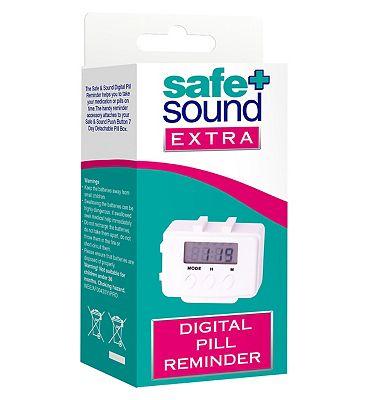 Safe & Sound extra digital pill reminder