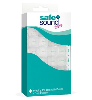 Safe & Sound Weekly Pill Box With Braille