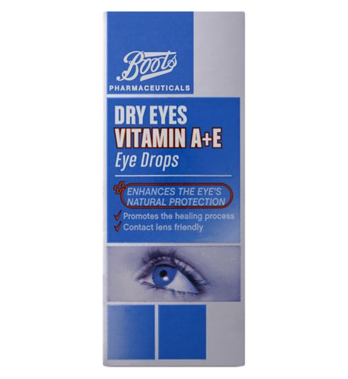 Boots Dry Eyes Vitamin A+E Eye Drops - 15ml