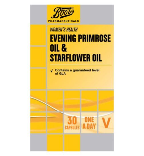 Boots Evening Primrose Oil & Starflower Oil 30 Capsules