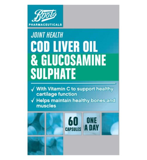Boots  COD LIVER OIL & GLUCOSAMINE SULPHATE 60 Capsules