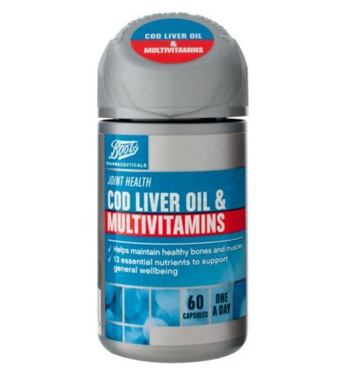 Boots COD LIVER OIL & MULTIVITAMINS 60 capsules